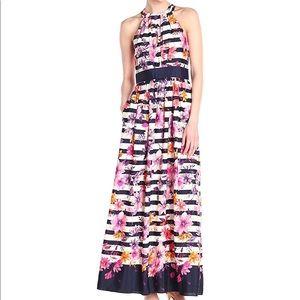 BRAND NEW SZ14 Eliza J Striped Maxi Dress